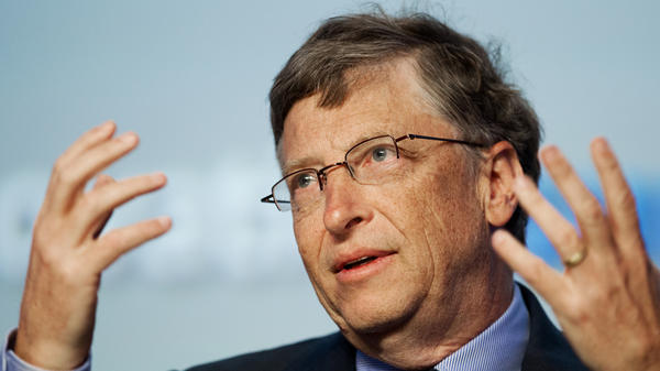 Bill Gates addresses an energy innovation summit in Maryland in February. The Microsoft chairman told NPR in an interview for <em>Weekend Edition </em>that teachers should be evaluated, but that the reviews should not be made public.