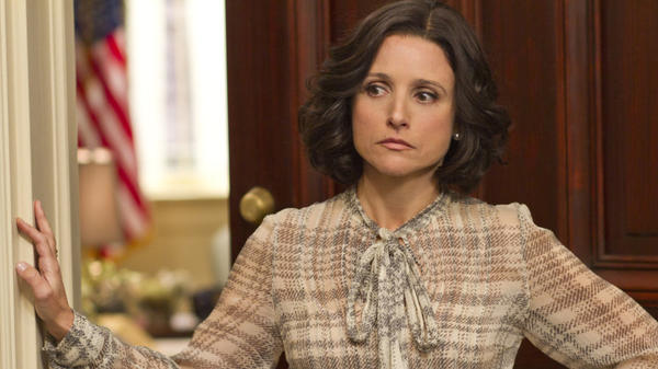 Julia Louis-Dreyfus plays the frustrated vice president in the new HBO comedy, <em>Veep</em>.
