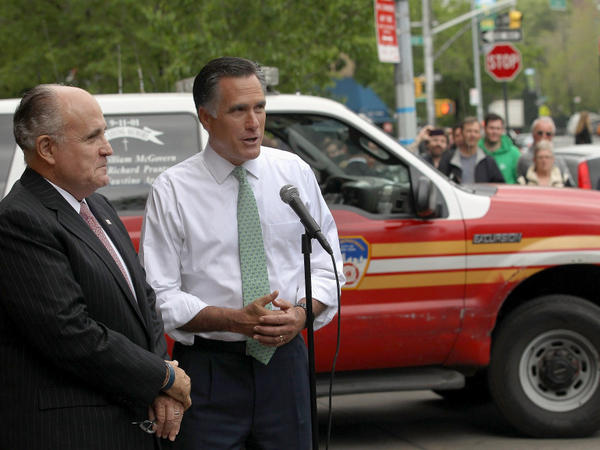 While Obama was in Afghanistan, Mitt Romney marked the anniversary of Osama bin Laden's death at a campaign photo op at a New York City fire station with 9/11 ties.