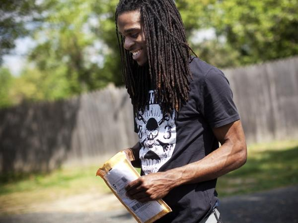 "Maryland resident Nicholas McDonald, 24, has briefly abandoned his musical aspirations to enter the workforce and contribute to the family's finances. ""I'd like to give my mom $100 every now and then,"" he says."