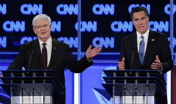 In Florida, former Mass. Gov. Mitt Romney OKs an ad accusing former House Speaker Newt Gingrich of influence peddling. Gingrich runs an ad mashing Romney.