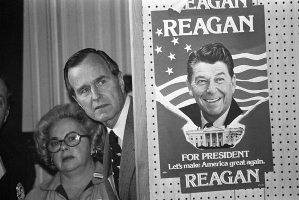 "Former CIA Director George H.W. Bush lit into what he dubbed Ronald Reagan's ""voodoo economics"" when the two competed for the 1980 GOP nomination."