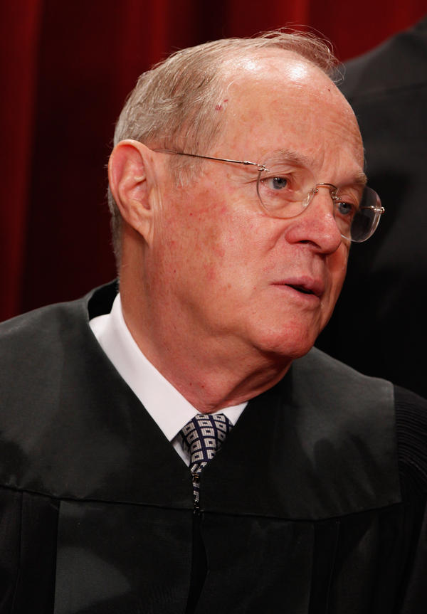 Justice Anthony Kennedy, who wrote the <em>Citizens United </em>opinion saying that corporations can pay for ads expressly promoting or attacking political candidates.