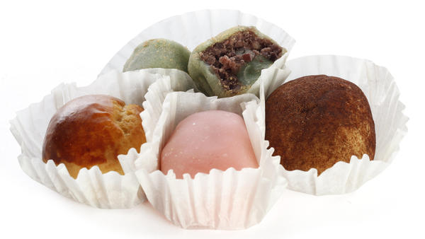 Manju from Umai Do Japanese Sweets, a bakery in Seattle, Wash.