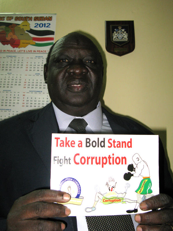 Justice John Gatwech, chairman of the South Sudan Anti-Corruption Commission, says his organization is doing its best to track stolen assets, but it lacks trained investigators and prosecutorial power.