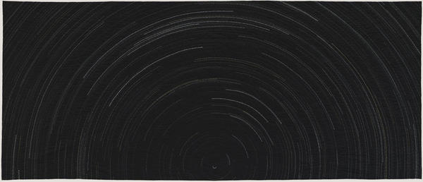 """<a href=""""http://40u40.beancreative.com/artist38.html"""">Anna Von Mertens</a> made a series of quilts depicting what the night sky looked like if you looked up during a moment of terrible violence in American history. Above, <em>2:45 a.m. Until Sunrise on Tet, the Lunar New Year, January 31, 1968, U.S. Embassy, Saigon, Vietnam (Looking North).</em>"""