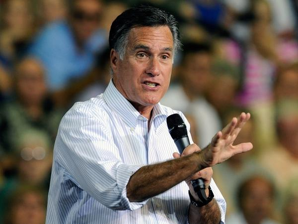 Mitt Romney speaks at a campaign event at the Cox Pavilion on September 21, 2012 in Las Vegas, Nevada.
