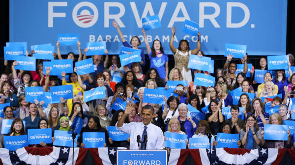 President Obama speaks during a campaign event at George Mason University in Fairfax, Va., on Friday.