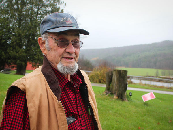 Ken Dibbell, a farmer near Norwich, New York, mixes Chobani's whey with cow manure and spreads it on his hay fields as fertilizer.
