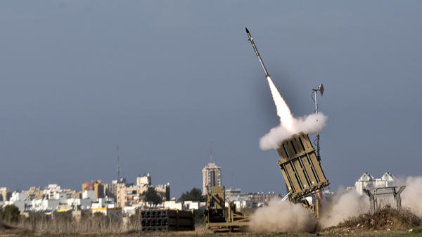 An Israeli missile is launched from the Iron Dome defense system, designed to intercept incoming rockets. This missile was fired from the southern Israeli city of Ashdod in response to a rocket launched from the nearby Palestinian Gaza Strip on Nov. 18.