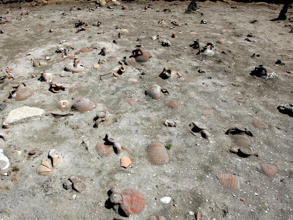 The archaeological finds include millions of shards of pottery.