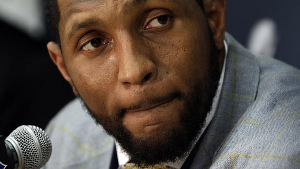 Baltimore Ravens linebacker Ray Lewis speaks at a news conference in New Orleans on Monday. The Ravens face the San Francisco 49ers in Super Bowl XLVII on Sunday. It will be Lewis' last game.
