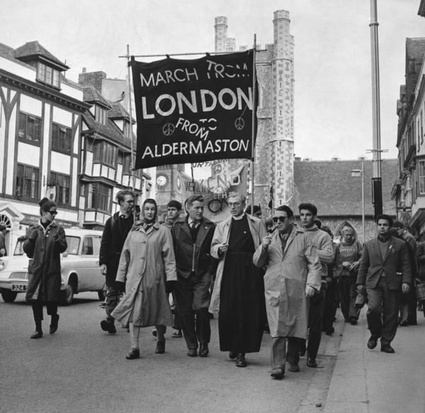 The 1963 nuclear disarmament demonstration known as the Aldermaston March, which culminated in a speech by the aristocratic British social critic Bertrand Russell, was characteristic of left-leaning activism in 1960s London. Film writer Ella Taylor (not pictured) participated in many such demonstrations in her youth.
