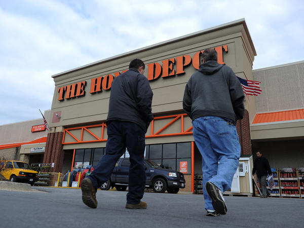 Home Depot is hiring 80,000 employees for its spring season. As the housing market picks up, other industry sectors — like gardening, construction and furniture — move upward, too.
