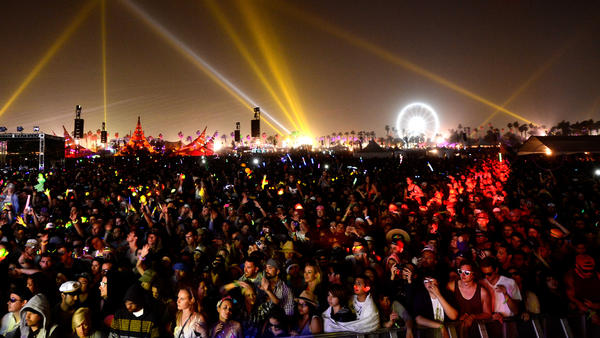 The crowd at Coachella on Sunday.