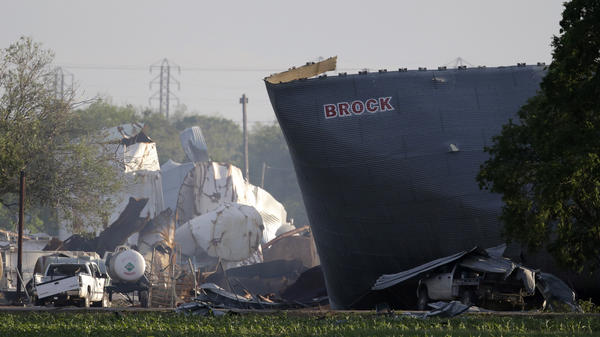 An explosion leveled a fertilizer plant in West, Texas, on Wednesday. The blast killed 14 people, injured more than 200 others and damaged or completely destroyed at least 80 homes.