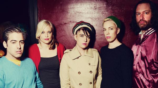 Kathleen Hanna (center) is the frontwoman of The Julie Ruin. The band's debut album is titled <em>Run Fast</em>.