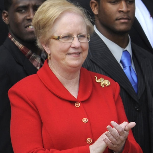 Judy Bonner, the University of Alabama's new president, when the school's championship football team visited the White House on April 19, 2012.