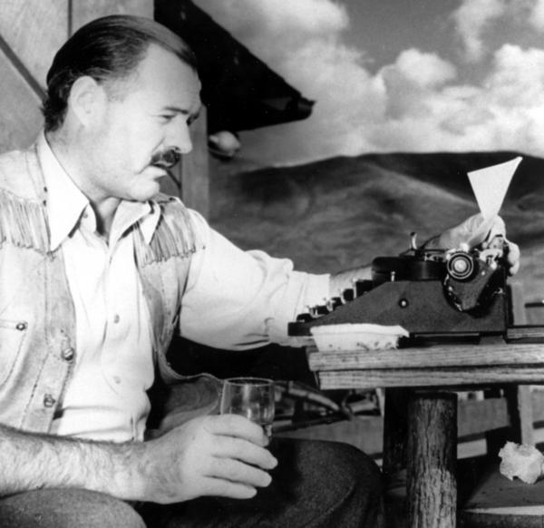 Ernest Hemingway, shown here in 1939.