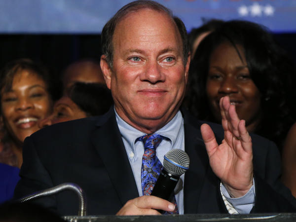 Mayor-elect Mike Duggan speaks at his election night celebration in Detroit on Tuesday.