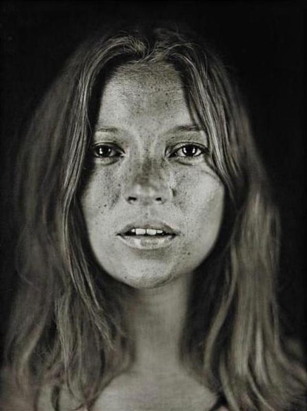<em>Untitled (Kate #18)</em> by Chuck Close.