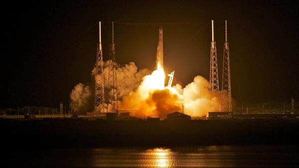 SpaceX's Dragon spacecraft atop rocket Falcon 9 lifts off from Cape Canaveral in Florida in May 2012. The launch made SpaceX the first commercial company to send a spacecraft to the International Space Station.