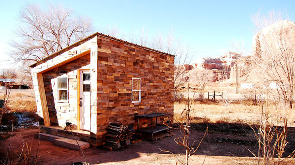 Good things come in small packages. Lacy Williams, an architecture student, and her boyfriend, Patrick Beseda, built a WikiHouse to live in during a field project in Utah.