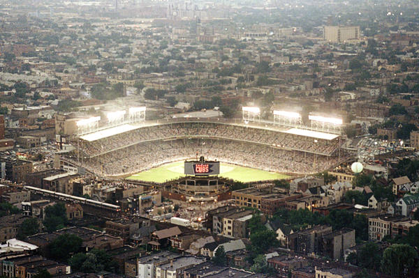 "For years, Wrigley was the only park in the majors where night games could not be played. The lights finally came on in August of 1988, although the first night game was rained out in the fourth inning — a turn of fate some fans interpreted as proof of a ""Cubs curse."""