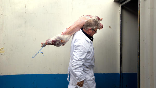 Ritually slaughtered lamb is delivered at a halal butcher shop in The Hague, Netherlands, in 2011. Denmark, Sweden and Norway are among the countries requiring animals to be stunned before slaughter. Dutch lawmakers took up the issue in 2012.