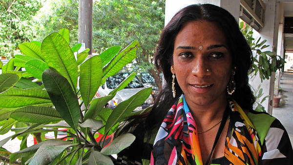 """Abhina Aher was born a boy biologically and is now a <em>hijra,</em> a member of an ancient transgender community in India. Of her painful physical and psychological transformation, Aher remembers now: """"I just wanted to become a beautiful butterfly."""""""