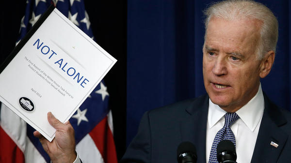 "Vice President Joe Biden on Tuesday announced the release of the first report of the White House Task Force to Protect Students from Sexual Assault. The report calls the intervention of bystanders one of the ""most promising prevention strategies."""