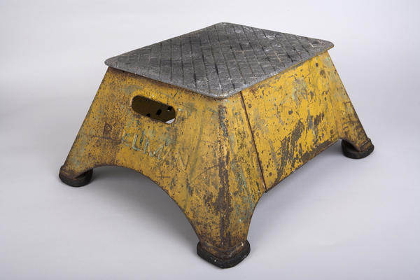 This stepstool was used by Pullman porters, black railroad sleeping car attendants in the early 20th century. The porters spread copies of <em>The</em> <em>Chicago Defender,</em> a leading black newspaper, throughout the South, helping to promote the Great Migration of blacks to the North.