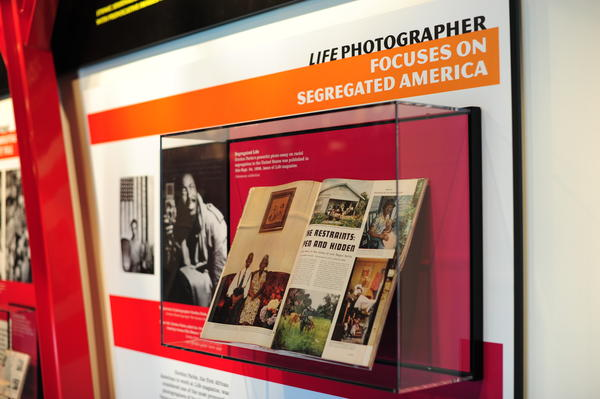 On display in the exhibit, Gordon Parks'<em> </em>powerful photo essay on racial segregation in the United States was published in this Sept. 24, 1956, issue of<em> Life</em> magazine