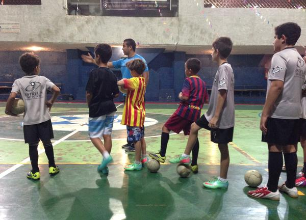 Alan Dias Moraes teaches futsal, an indoor version of soccer, in Brazil. He says these skills could give Brazilian soccer a boost.