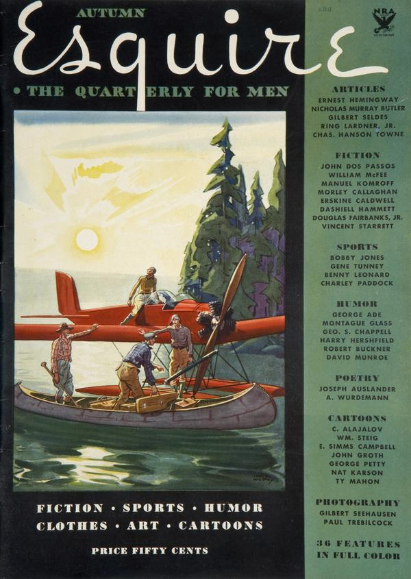 The cover to the very first issue of <em>Esquire</em>, published shortly after the magazine's founding by Arnold Gingrich.