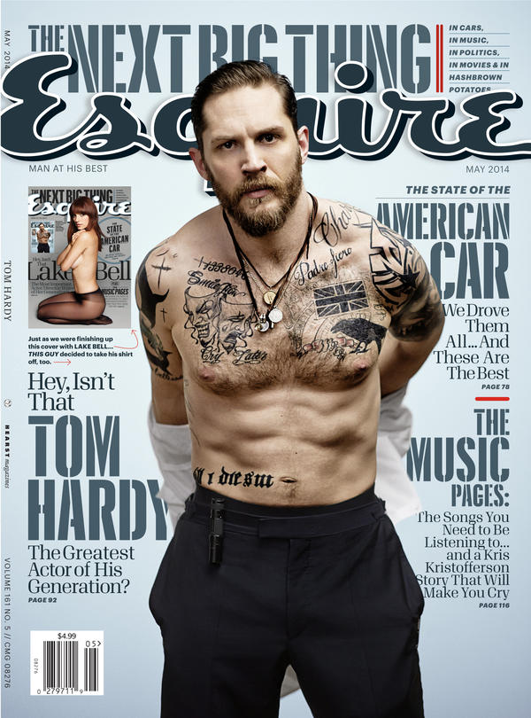 May 2014 cover, featuring Tom Hardy.