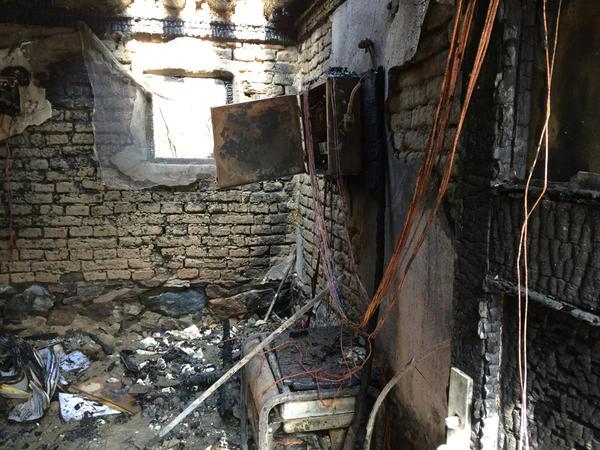 NPR's garage, after the fire.
