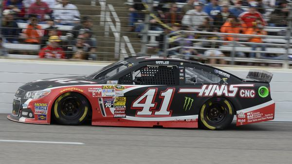 Kurt Busch drives during the NASCAR Sprint Cup Series auto race in Fort Worth, Texas, on Nov. 2, 2014. Busch was recently suspended indefinitely amid domestic violence accusations.