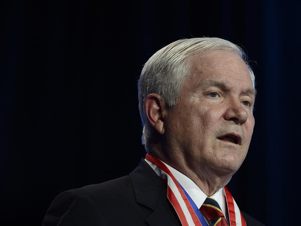 "Former Defense Secretary Robert Gates at the Boy Scouts of America's annual meeting in 2014. ""There's no certainty about any of this,"" he says of the situation in Iraq."
