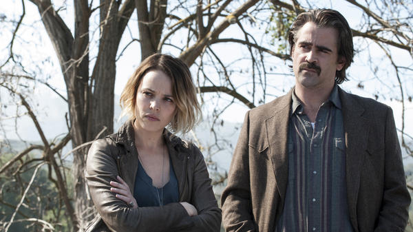 Rachel McAdams appears with Colin Farrell in HBO's new season of <em>True Detective</em>.