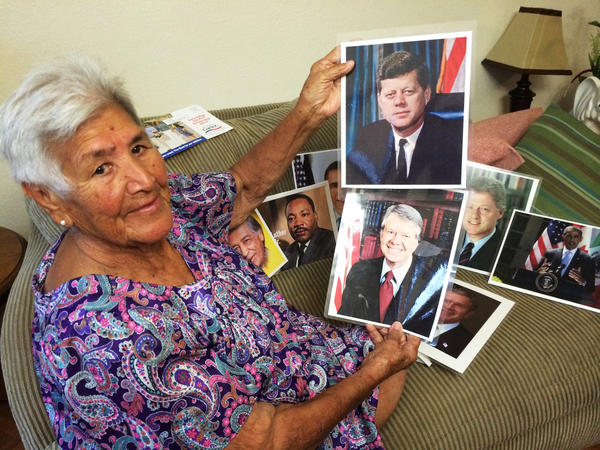 Herminia Becerra is a <em>politiquera</em> in Brownsville, Texas. She has worked political campaigns for nearly 60 years in the Rio Grande Valley. Becerra says she has never been indicted for election fraud, has nothing to hide, and supports candidates without compensation.