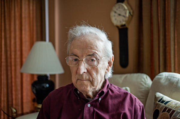 World War II veteran Charlie Cavell — a test subject in the military's secret mustard gas experiments — at his home in Virginia.