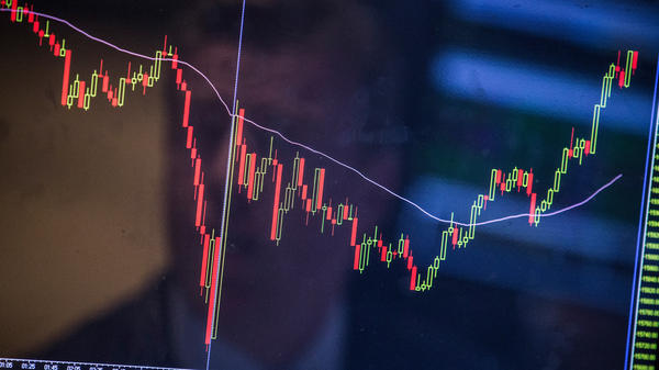 Stock prices fluctuated wildly this week after a sharp plunge on Monday — but what does that <em>sound</em> like?