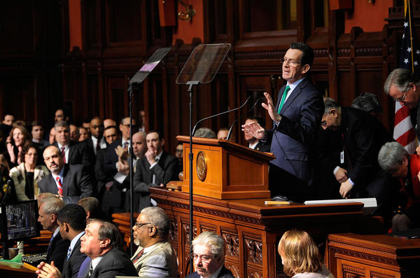 Connecticut Gov. Dannel Malloy unveiled his budget to the legislature last February, but the year's expenditures were greater than income. Connecticut's leaders voted to cut hospital funding to help close the gap.