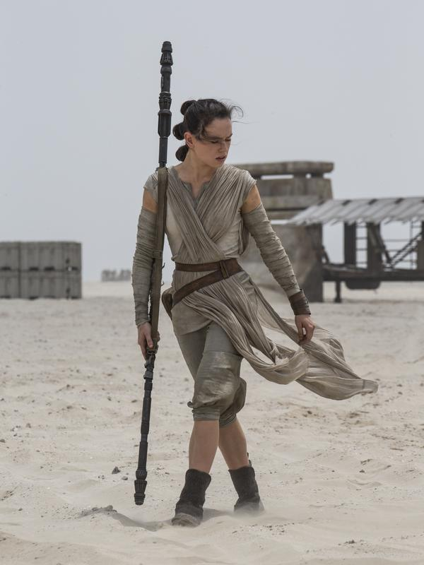 Daisy Ridley plays the scrappy scavenger Rey.