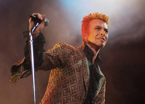 David Bowie performs during a concert celebrating his 50th birthday, on Jan. 9, 1997, at Madison Square Garden in New York City.