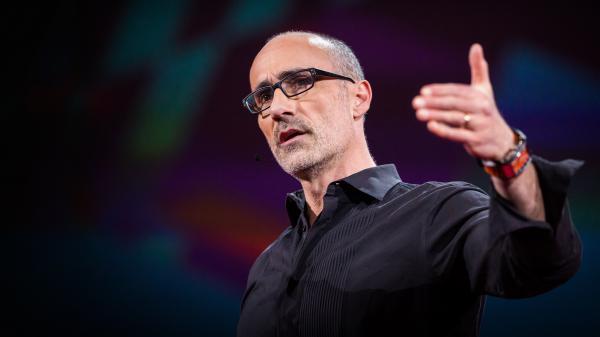 Arthur Brooks speaking at TED2016.