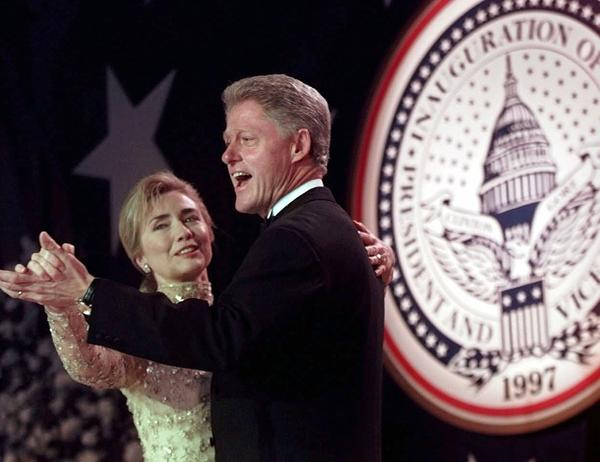 Hillary Clinton dances with her husband President Bill Clinton at an inaugural ball in January, 1997. Last week, Hillary Clinton became the first woman to win the presidential nomination for a major American party. Somehow, we are still talking about her shoes.