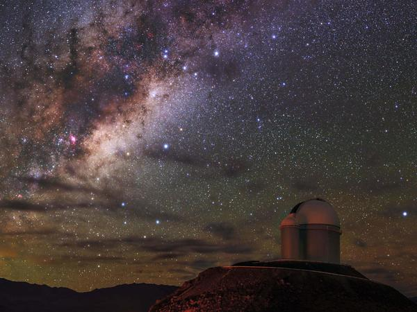 The Milky Way galaxy seen looking out from La Silla Observatory in the Chilean Atacama Desert, north of Santiago de Chile.