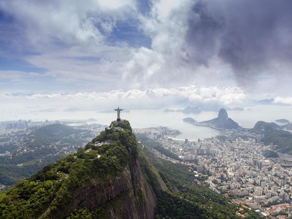 The Rio de Janeiro landscape in Brazil, South America.